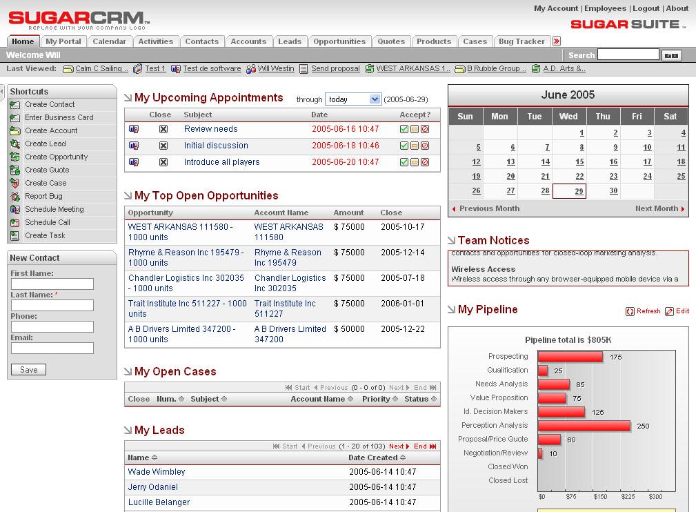 Customer Relations Management (CRM) system i Danmark